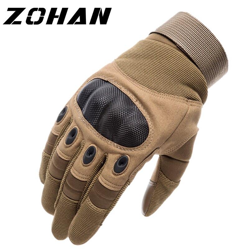 Knuckle taktik erkek eldiven askeri ordu Airsoft sert avcılık tam parmak eldiven açık kış dokunmatik ekran çekim bisiklet