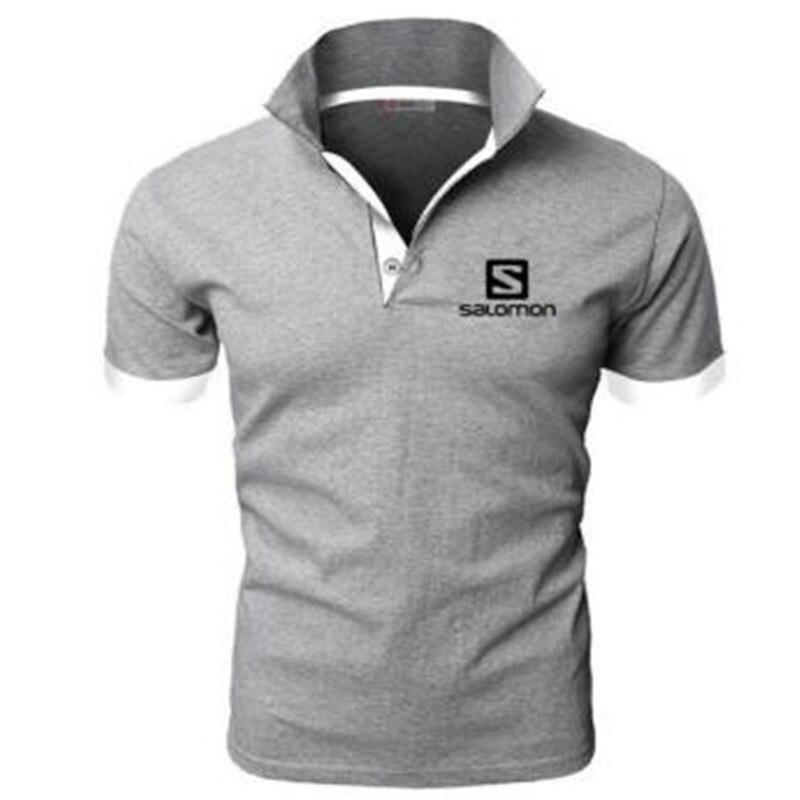 2019 New Fashion Men Polo Shirt Salomon Brands Clothing Short Sleeve Summer Shirt Man Cotton Poloshirt Men Plus Polo Shirts