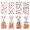 50Pcs/lot 27x13cm Santa Claus Tree Christmas Gift Bags Cartoon Plastic Candy Bag Christmas Cookie Packaging Pouch for Xmas Decor