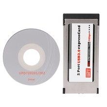 2021 New PCI-E PCI Express To 2 Port USB 3.0 34 mm Expresscard Card Converter Adapter
