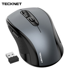 Tecknet 2.0 USB Mouse Nirkabel Komputer dengan 2.4G Penerima Nirkabel 2000DPI 10M Super Mouse untuk Komputer wireless PC Laptop(China)