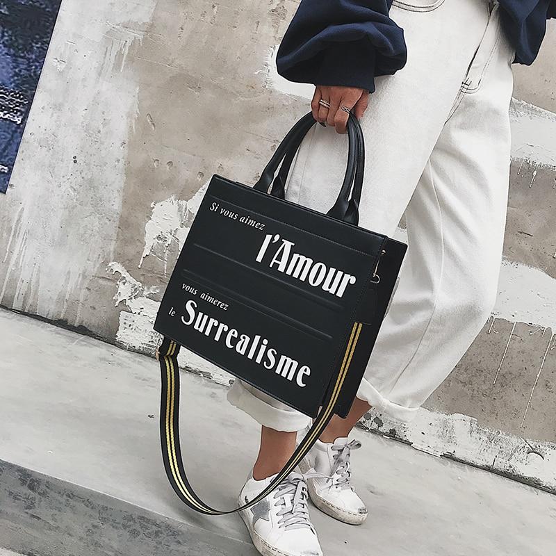 Mode grand rabat femmes sacs à main concepteur lettre sacs à bandoulière de luxe en cuir Pu Large rayé sangle sac à bandoulière sacs à main décontractés