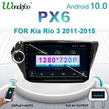 2 din Android 10 car radio PX6 FOR KIA RIO 3 2011 2015 Navigation GPS auto audio Screen autoradio stereo bluetooth multimedia
