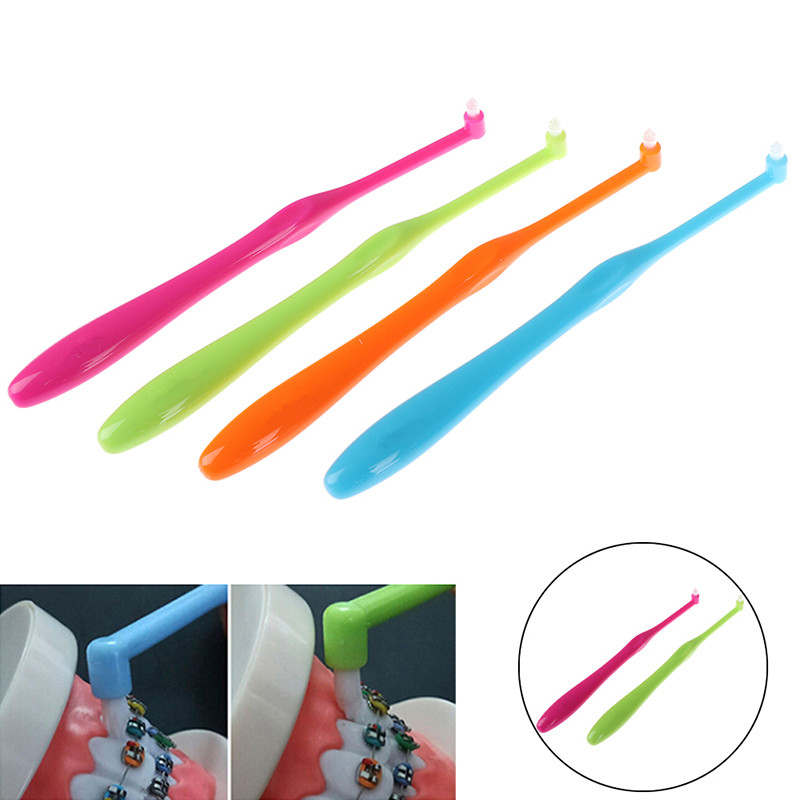 Hot 1Pcs Orthodontic Toothbrush Small Head Soft Hair Correction Teeth Braces Dental Floss Oral hygiene Tooth Care image