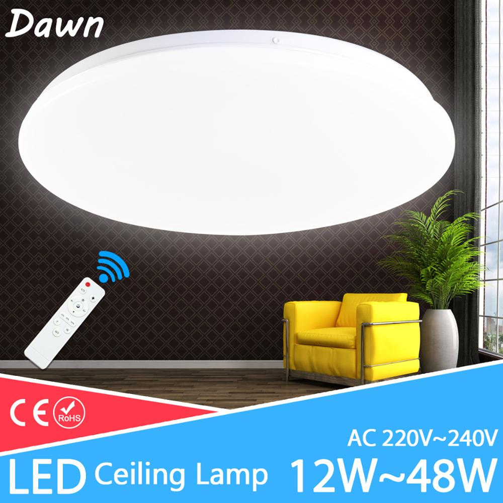 Modern Downlight 48W 36W 24W AC220V 240V Led Downlight Fixture Bedroom Led Lamp Living Room Lights Remote Control