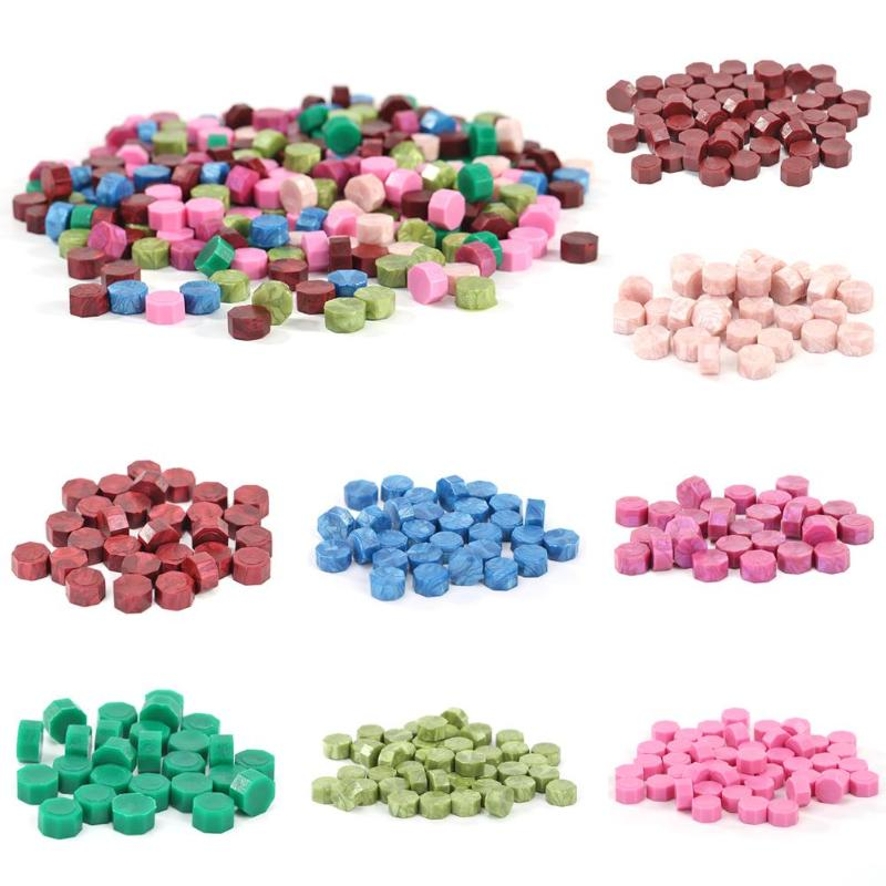 100pcs Octagon Vintage Sealing Wax Beads Tablet Pill DIY Craft Stamp Wax Waxing Envelop Sealing Stamp Wax
