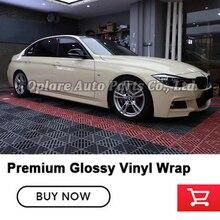 Highest quality Khaki Milan vinyl wrap super Gloss Vinyl Wrap foil Beige Wrapping film quality Warranty 5m/10m/18m