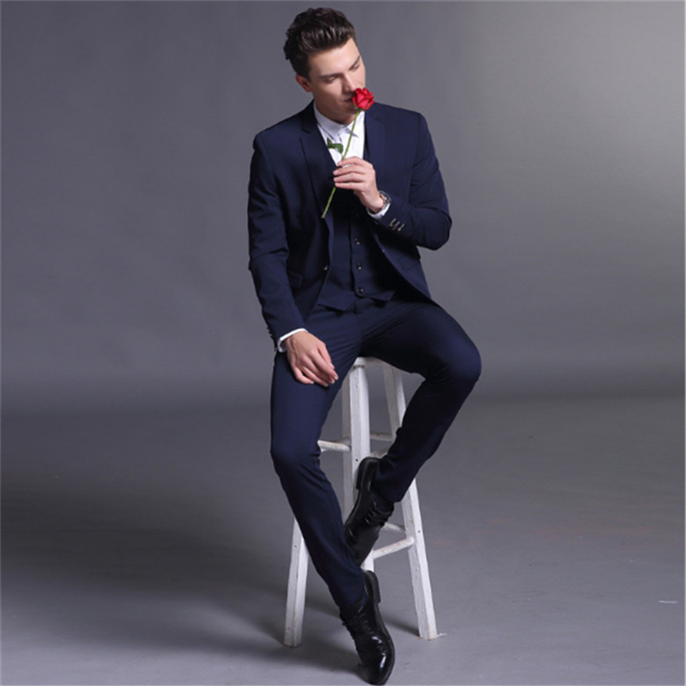 New Classic Men's Suit Smolking Noivo Terno Slim Fit Easculino Evening Suits For Men Formal Dress Wedding Groom Tuxedos