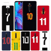 Voetbal Nummer 10 Case Voor Xiao Mi Rode Mi Note 8 7 8T K20 7S S2 6 6A 7A Pro Mi CC9 E 9T A3 A1 A2 Lite F1 Tpu Telefoon Cover 8A 10(China)