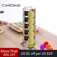 Shelf Coffee-Pod-Holder 360-Rotating Dispenser Stand-Fit Storage-Rack 18-Capsule