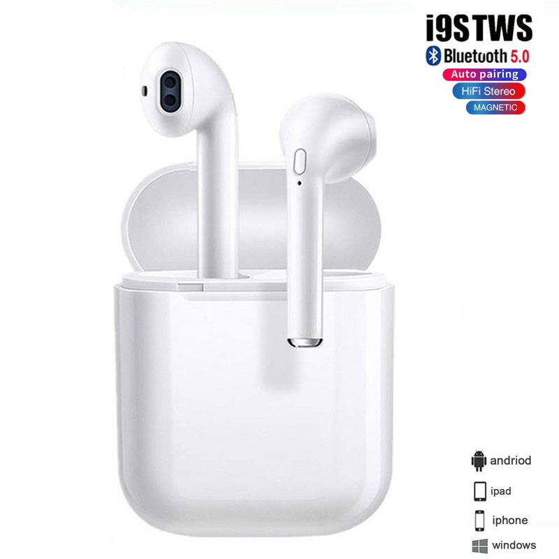 i9s <font><b>TWS</b></font> <font><b>Bluetooth</b></font> <font><b>Earphone</b></font> <font><b>5.0</b></font> in ear <font><b>mini</b></font> air <font><b>Wireless</b></font> Headsets Bass stereo Earbuds Sport Headset For iPhone Huawei <font><b>Smart</b></font> Phone image
