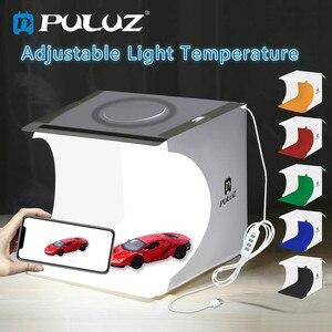 Image 5 - Mini fotoğraf ışık kutusu ayarlanabilir yüzük led ışık katlanır Lightbox fotoğraf stüdyosu yumuşak kutu fotoğraf arka plan kiti DSLR kamera için