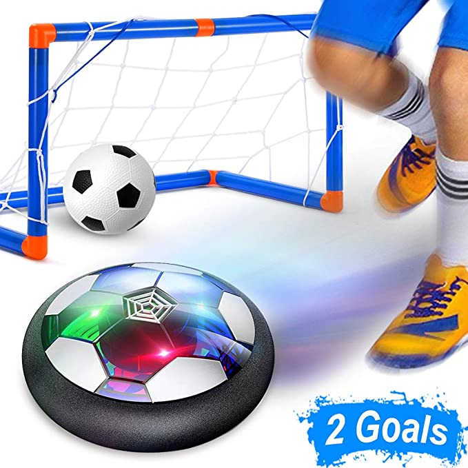 18cm Air Power Hover Soccer Ball Toys Rechargeable Air Soccer Indoor Floating Soccer Ball With LED Light Christmas Gift For Kids