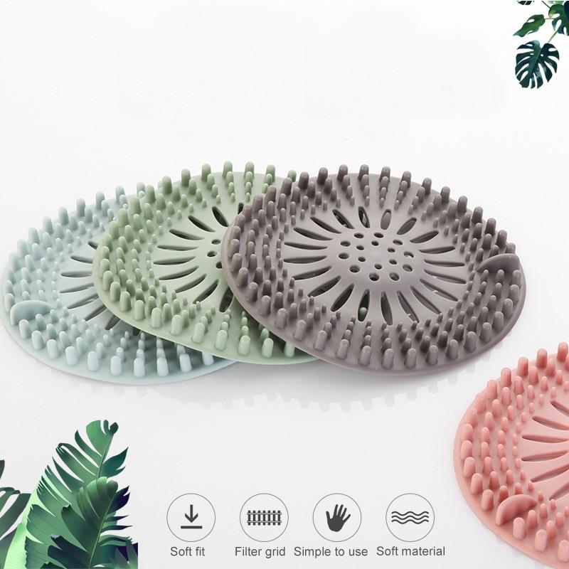 1Pcs Sink Filter Kitchen Accessories Portable Bathroom Bathtub Supplies Hair Stopper Drain Strainer Silicone Shower Drain Covers
