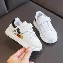 Disney Mickey Mouse Enfants dessin animé Baskets Garçons Filles baskets Blanches Enfants Décontracté chaussures D'école