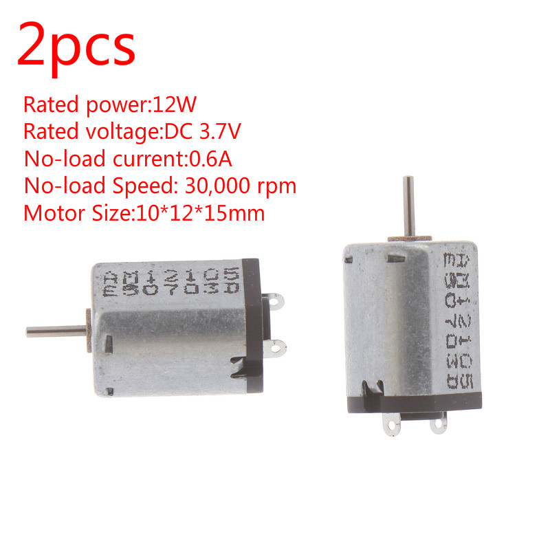 5pcs 4x12mm DC3.7V 40000RPM High Speed Aircraft Model Helicopter Coreless Motor