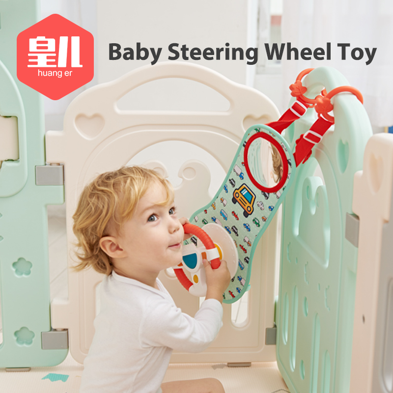 Baby Kids Eletric Simulation Steering Wheel Musical Developing Educational Toys Car Seat Early Education Sounding Infant Kid Toy 1