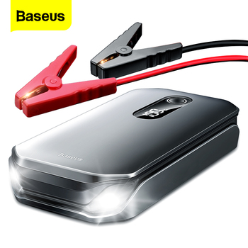 Baseus Portable Car Jump Starter Device Power Bank Emergency 12000mAh High Power 12V Car Battery Booster Auto Starting Device baseus 8000a car jump starter battery power bank high capacity starting device booster auto vehicle emergency battery booster