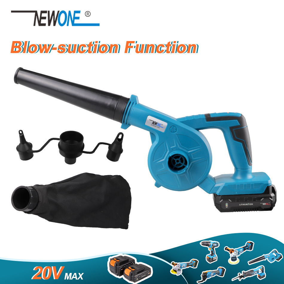 20V Max Cordless Handheld Air Leaf Blower with Blow-suction Function Multi-Use Portable Work Household Cleaning Inflatable Blow