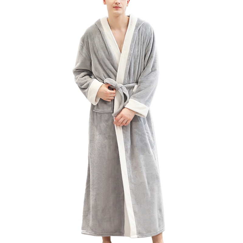 Pajamas Long-Nightgown Velvet Robe Bathrobe-Plus Flannel New Winter Thickening Home-Service
