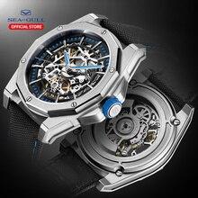2020 Nieuwe Seagull Horloge Mannen Automatische Mechanische Hollow Perspectief Mechanisch Horloge Grote Wijzerplaat Waterdicht Persoonlijkheid Horloge