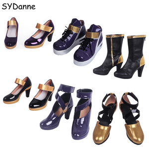 Image 1 - Game LOL KDA Ahri Shoes Cosplay Shoes Group High Heels Boots Shoes LOL Evelynn Cosplay Women Girls Shoes Casual K/DA KAISA Cos