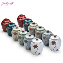 JIA-GUI LUO Ceramic Tea Caddies tea storage tea set tea container tea jar tea box tea bag storage box tea tins D109(China)