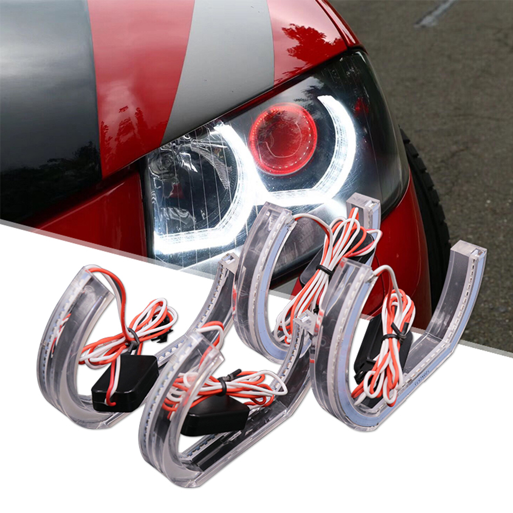 LEEPEE DRL Auto Accessories For <font><b>BMW</b></font> <font><b>E90</b></font> E92 E93 F30 F35 E60 E53 Marker Lights <font><b>LED</b></font> <font><b>Angel</b></font> <font><b>Eyes</b></font> Car Daytime Running Light image