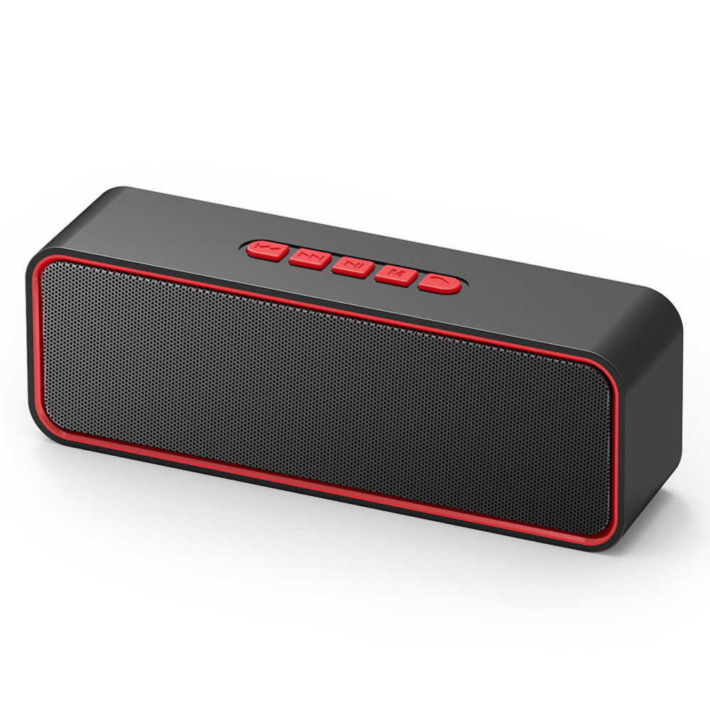 Tws 10H Speaker + Mic Handsfree FM AUX USB TF Kartu Komputer Nirkabel Rportable Bluetooth Subwoofer Speaker Caixa De som EY234