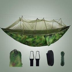 Гамак с москитной сеткой камуфляж Кемпинг Спальный Сад Открытый взрослых парашют ткань портативный путешествия качели гамак палатка