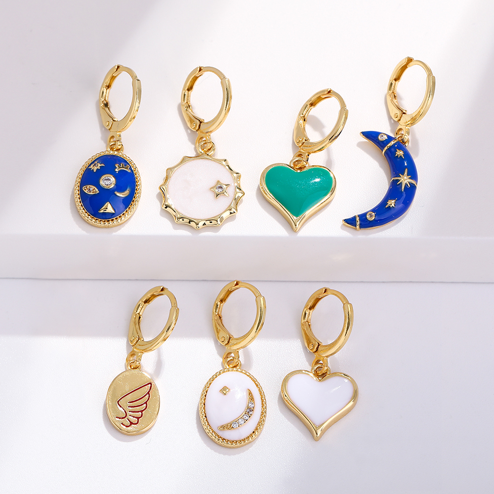 Heart Pendant Charms for Jewelry Making Supplies Gold Diy Earring Bracelet Necklace Jewelry Charms Copper Zircon Accessories