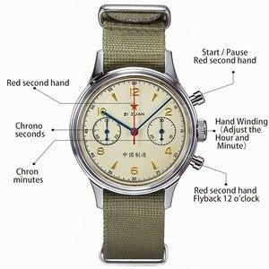 Image 4 - 1963จีนAir ForceนักบินChronographนาฬิกาOriginal Seagull St1901 Sapphireนาฬิกาผู้ชายMechanicalนาฬิกาข้อมือนาฬิกา