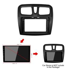 Image 5 - إطار DVD للسيارة 1 2din ، محول تركيب الصوت ، لوحة لوحة القيادة ، 9 بوصة لرينو سانديرو/رمز 2014 17 ، مشغل راديو