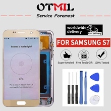 5.1Burn Shadow For SAMSUNG Galaxy S7 LCD Display Touch Screen with Frame Digitizer G930F G930A  #1