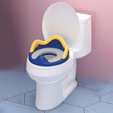 Kids Toilet Trainer Potty Tool Baby Potty Training Toilet Seat With Cushion Handles Double Anti-Slip Design And Splash Guard