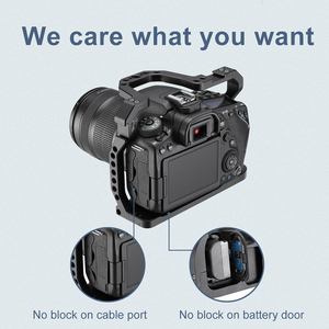 Image 4 - Алюминиевый корпус UURig для камеры Canon EOS 90D/80D/70D, с креплением на Холодный башмак, отверстие Arri 1/4, 3/8 дюйма, винт для микрофона, СВЕТОДИОДНЫЙ монитор