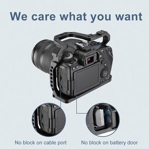 Image 4 - UURig alüminyum kamera kafesi Canon EOS 90D/80D/70D soğuk ayakkabı ile arriam delik 1/4 3/8 vida mikrofon monitör LED