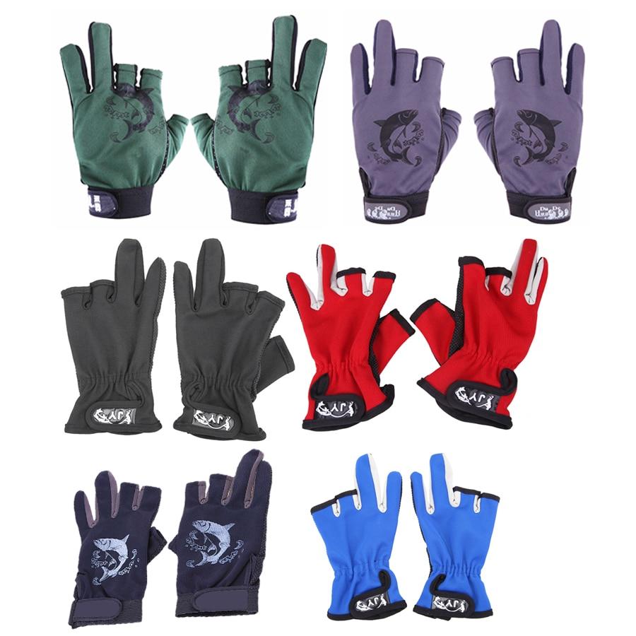 3 Fingerless Fishing Gloves Anti Slip Fingerless Three Fingers Gloves Finger Protector Skidproof Gloves Fishing Tackle