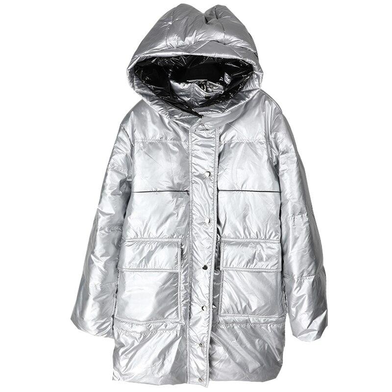 XUXI 2019 manteaux d'hiver nouilles légères Bai Yarong vestes filles Long fonds épaississement même chapeau ample manteau costume-robe FZ0097