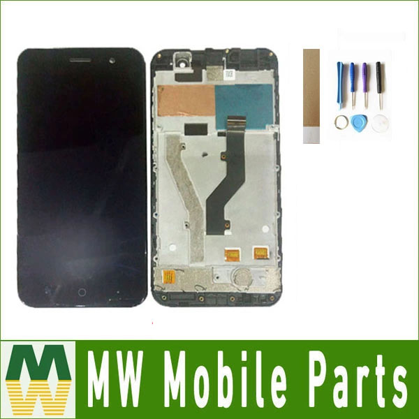 1PC/Lot For <font><b>ZTE</b></font> <font><b>Blade</b></font> <font><b>A520</b></font> With Frame LCD Display+Touch <font><b>Screen</b></font> Digitizer Assembly Black White Color image