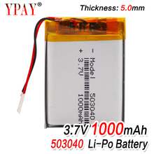 1/2/4pcs 1000mAh 503040 Lithium Li-ion Polymer Battery 40x30x5mm Li-Po Battery Cell For Voice Recorder Headset Speaker E-boo mallper replacement 3 7v 1000mah li ion battery for samsung corby 2 s3850 s5530 more orange