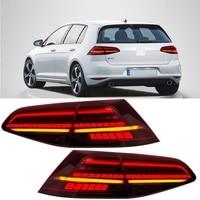 Großhandel auto led-leuchten hinten lampen blinker hohe zusätzliche bremse reverse nebel licht fit für vw golf 7 Mk 7,5 Golf schwanz licht