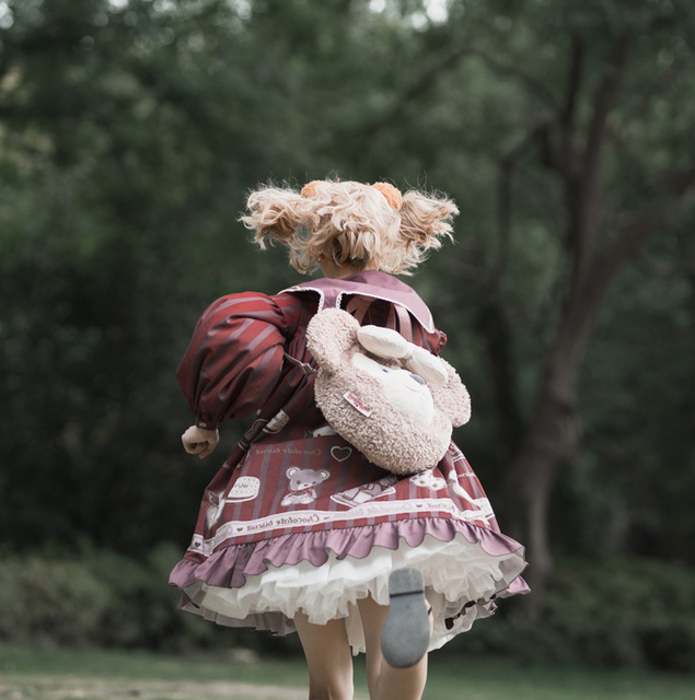 милое платье в стиле «лолита» ретро с матросским воротником фотография