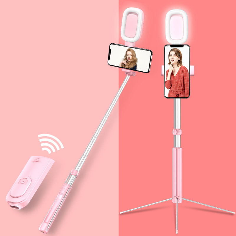 Fill Lighting Bluetooth 1.6M Selfie Stick Tripod & LED Ring Light Phone Stand Monopod 360 Rotation For Smartphone Mobile Photo