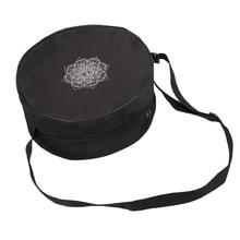 Yoga Wheel Bag Nylon Mandala Flower Print Circle Large Capacity Double Zipper Pilates Backpack S17
