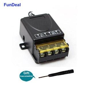 Image 3 - FunDeal 433Mhz RF Relais Draadloze Afstandsbediening Schakelaar AC 220V 1CH 30A Ontvanger Module & 2 Knop Afstandsbediening controle Voor Waterpomp