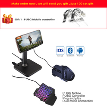 лучшая цена New Phone gamepad Usb Controller for IOS PUBG controller Gamepad Android to PC Bluetooth USB Keyboard Mouse Converter Free Gift