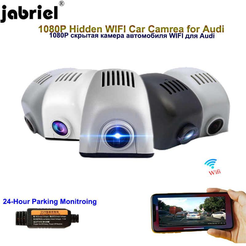 Jabriel WIFI ocultos 1080P cámara de salpicadero de la cámara del coche Dvr de coche para audi a6 c6 c5 c7 a4 b8 b6 b7 b9 b5 a3 8p 8v 8l a5 8t b9 a1 q5 q7 4l 4m