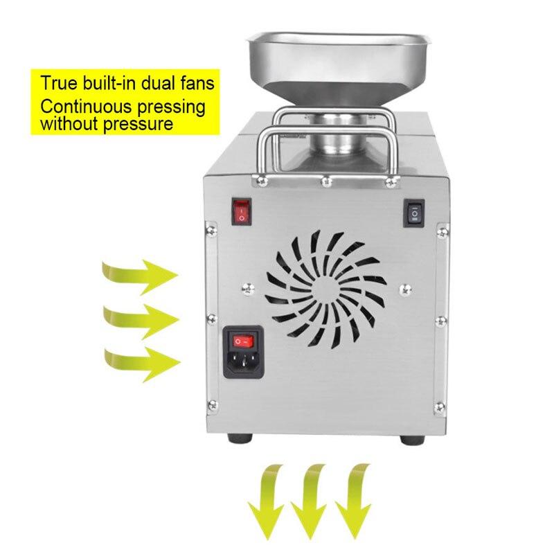 220V 1500W (Max) temperatuur Gecontroleerde Rvs Oliepers Familie Kleine Elektrische Koudgeperste Automatische Pinda Kokosnoot - 2