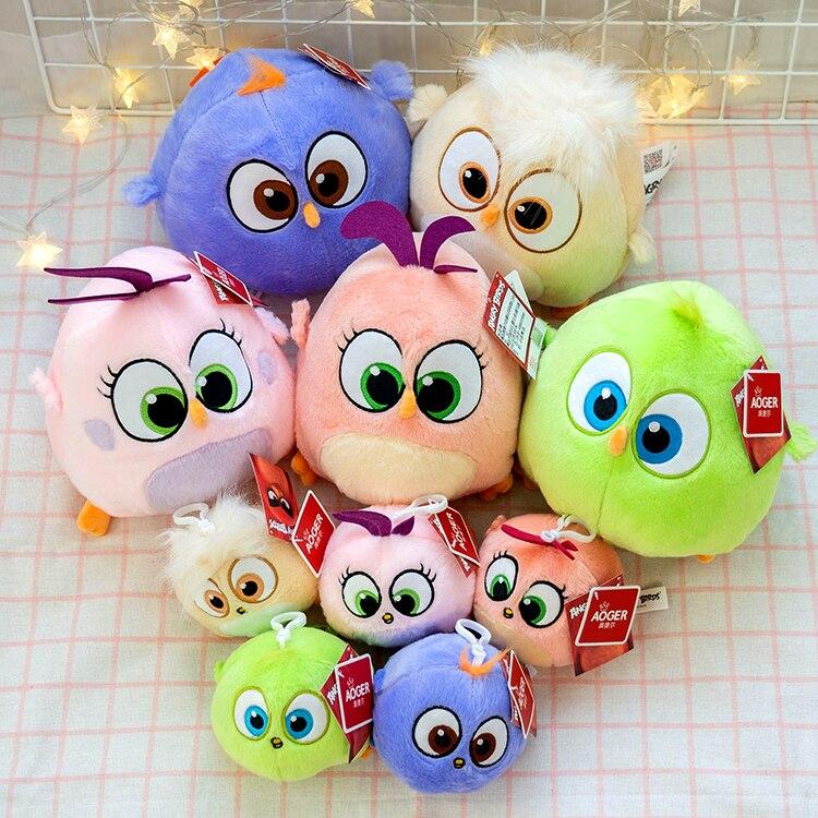 Милые детские плюшевые игрушки с птицами красный патрон бомба Bad piggies Мягкая кукла подвеска с птицами подарки для детей подарок на день рожд...